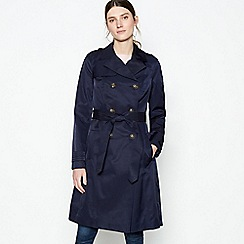 Principles - Navy Belted Long Mac