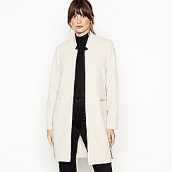 Principles - Cream Edge To Edge Crepe Coat