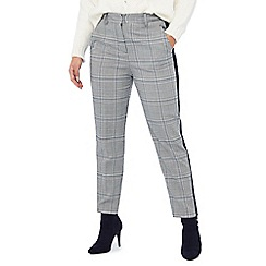 Principles Petite - Grey Check Print Tailored Petite Trousers