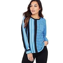 Principles Petite - Blue Stripe Print Chiffon 'Marina' Petite Shirt