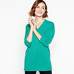 Principles - Green Supersoft V-neck Jumper