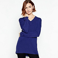 Principles - Bright Blue Supersoft V-neck Jumper