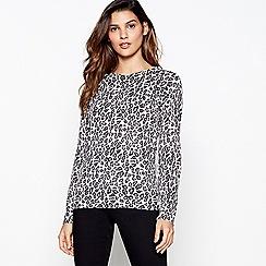 Principles - Grey leopard print jumper
