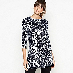 Principles - Light Blue Leopard Print Tunic Top