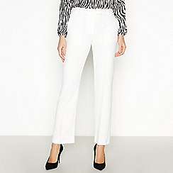 Principles - Ivory Straight Leg Suit Trousers