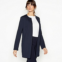 Principles - Navy Longline Textured Jacket