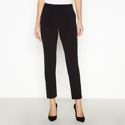 Principles Petite   Black Petite Slim Leg Trousers by Principles Petite