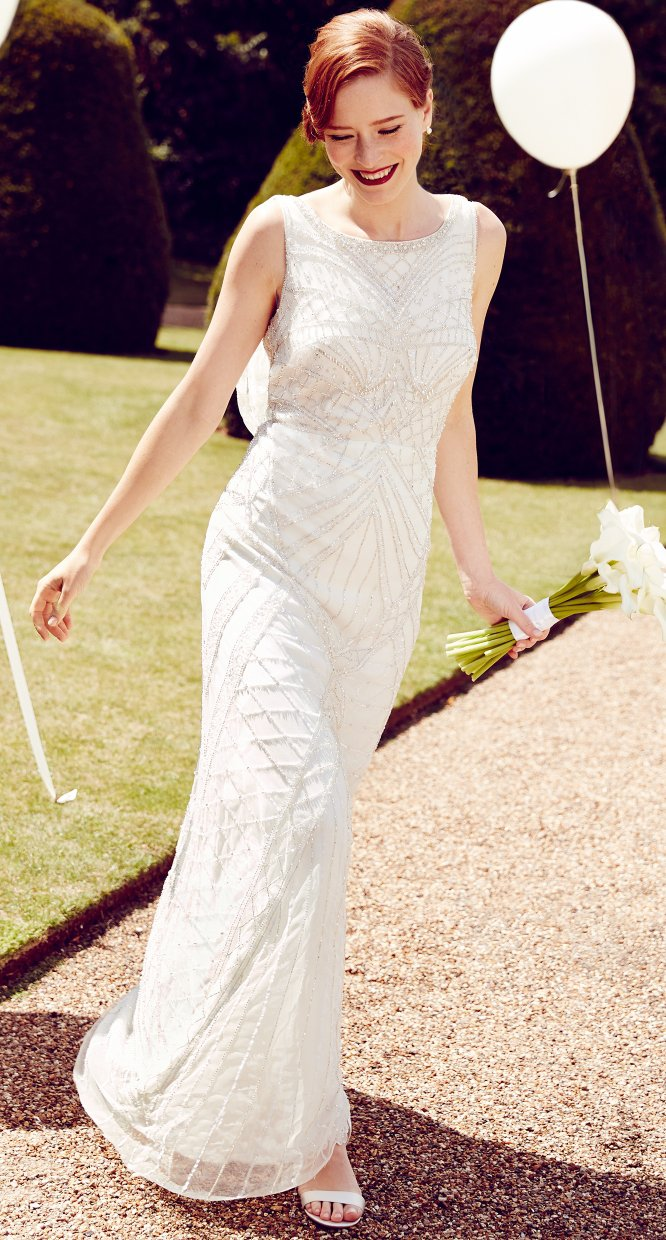 Debut Ivory Cowl Neck Bridal Dress The Outfit