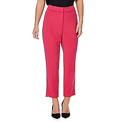 Principles Petite by Ben de Lisi - Bright pink tapered petite suit trousers