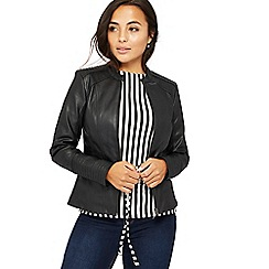Principles Petite - Black petite biker jacket