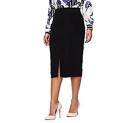 Principles Petite - Black petite pencil skirt