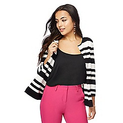 Principles - Black and white striped cardigan