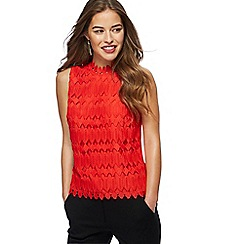 Principles Petite - Red lace shell top