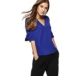 Principles Petite - Royal blue shirred shoulder petite top