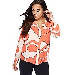 Principles Petite - Coral floral print petite shirt