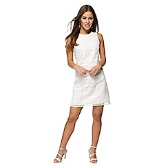 Principles Petite - Ivory lace mini petite shift dress