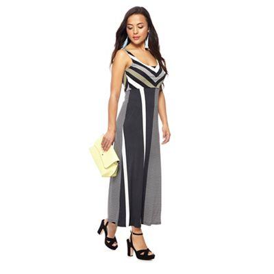Principles Petite Black Striped Petite Maxi Dress Debenhams
