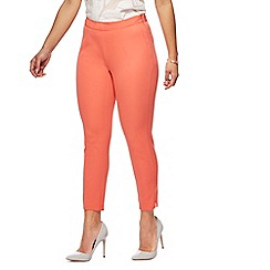 Principles Petite - Peach straight leg petite trousers