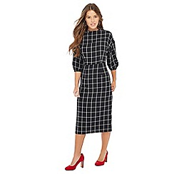 Principles Petite - Black check print petite dress