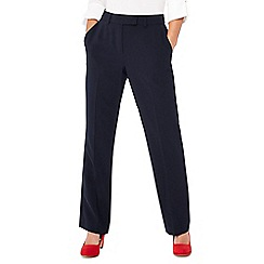 Principles - Navy straight leg petite suit trousers
