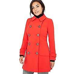 Principles Petite - Red double breasted petite pea coat