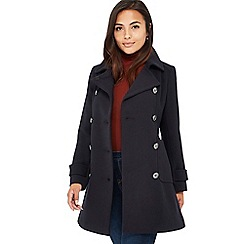 Principles Petite - Navy double breasted petite pea coat