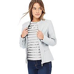 Principles Petite - Grey petite biker jacket
