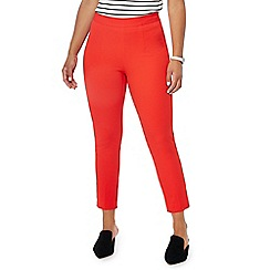 Principles Petite - Red bi-stretch straight leg petite trousers