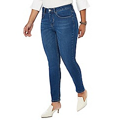Principles Petite - Blue mid wash cropped petite skinny jeans