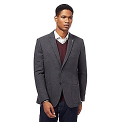 J by Jasper Conran - Big and tall grey textured single breasted jacket