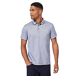 J by Jasper Conran - Blue mini birdseye polo shirt