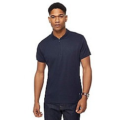J by Jasper Conran - Big and tall navy zip polo shirt