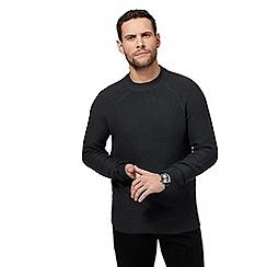 J by Jasper Conran - Big and tall dark grey chunky knit jumper