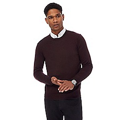 J by Jasper Conran - Purple merino wool crew neck jumper
