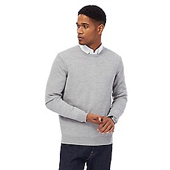 J by Jasper Conran - Light grey merino wool crew neck jumper