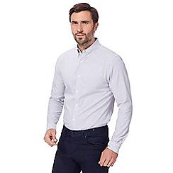 J by Jasper Conran - Grey and white fine striped shirt