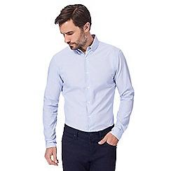 J by Jasper Conran - Light blue and white fine striped shirt