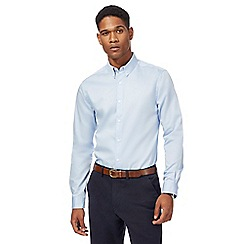 J by Jasper Conran - Blue sateen long sleeve shirt