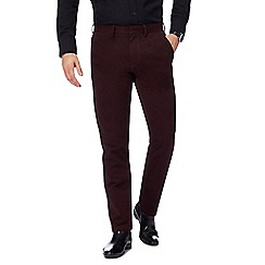 J by Jasper Conran - Dark red 'Ottoman' chinos