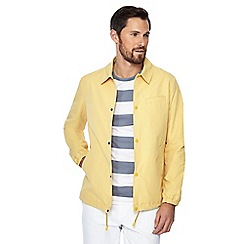 J by Jasper Conran - Big and tall yellow shower resistant coach jacket