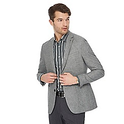 J by Jasper Conran - Big and tall grey textured linen blend jacket