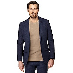 J by Jasper Conran - Big and tall blue textured blazer