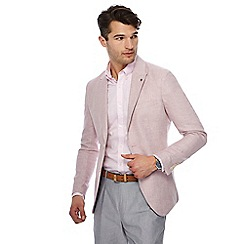 J by Jasper Conran - Dark rose textured linen blend jacket