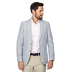J by Jasper Conran - Big and tall blue striped regular fit blazer