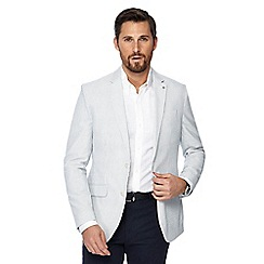 J by Jasper Conran - Big and tall white striped regular fit blazer