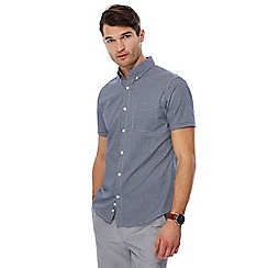 J by Jasper Conran - Navy gingham check short sleeve shirt