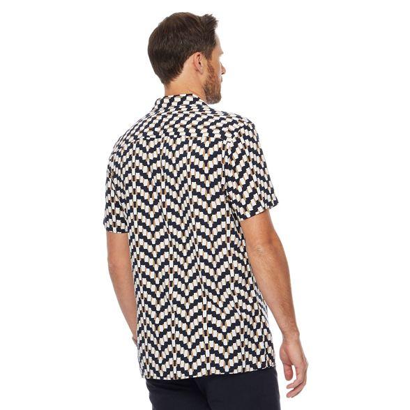 tall and Big shirt Jasper navy Conran printed by J xOpwaX