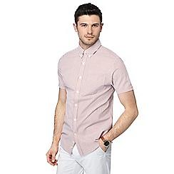 J by Jasper Conran - Blue striped button down collar short sleeve shirt