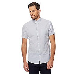 J by Jasper Conran - White striped seersucker short sleeve shirt
