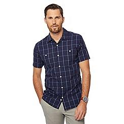J by Jasper Conran - Navy windowpane print shirt
